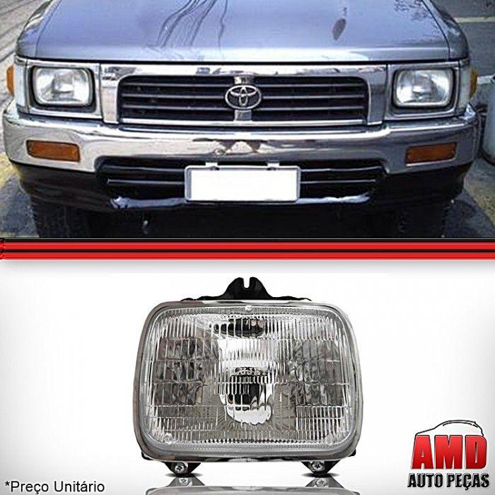 Farol Toyota Hilux SR5 Pick Up l200 l300 Nissan D21 1992 a 2000 Novo