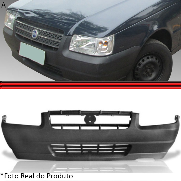 Parachoque Dianteiro Uno Fiorino 04 a 06 Preto Poroso
