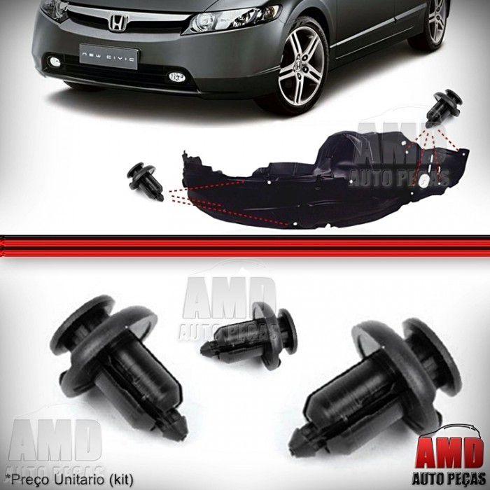 Kit Grampo Presilha Parabarro Honda Civic City Fit CRV Accord Legend 02 a 08