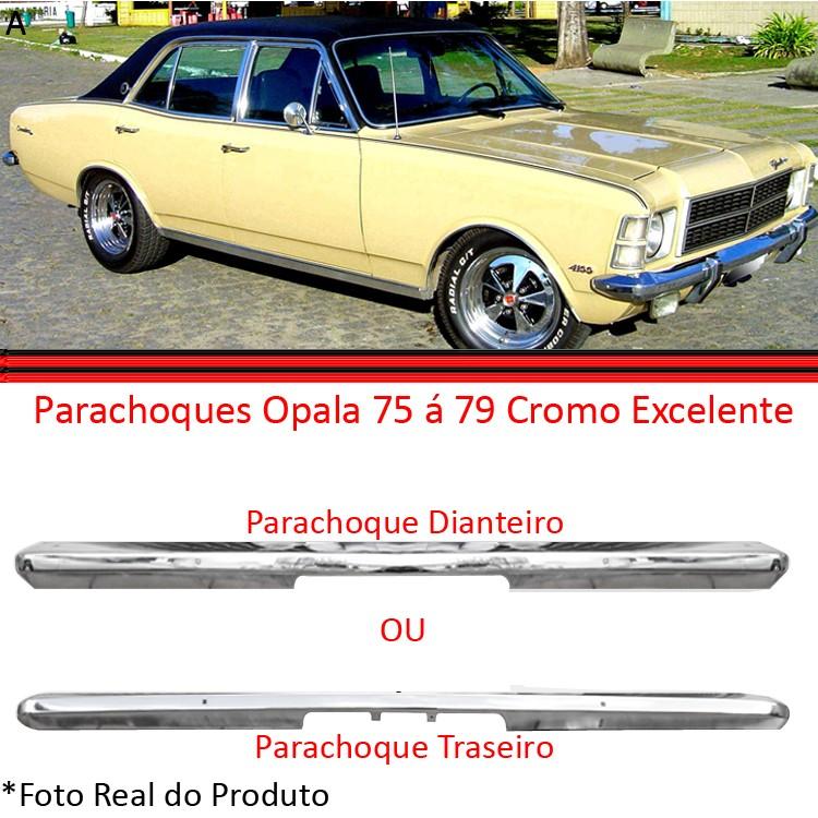 Kit Parachoque Dianteiro e Traseiro Opala Caravan Cromado 75 a 79  - Amd Auto Peças