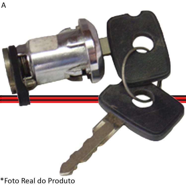 Cilindro Porta Dianteira Miolo Monza 82 A 90 Com Chave Cromado