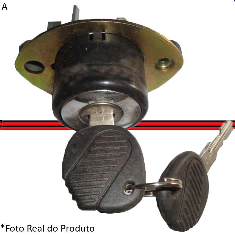 Cilindro Tampa Traseira Santana 84 a 91 Mecânica Manual Com Chaves