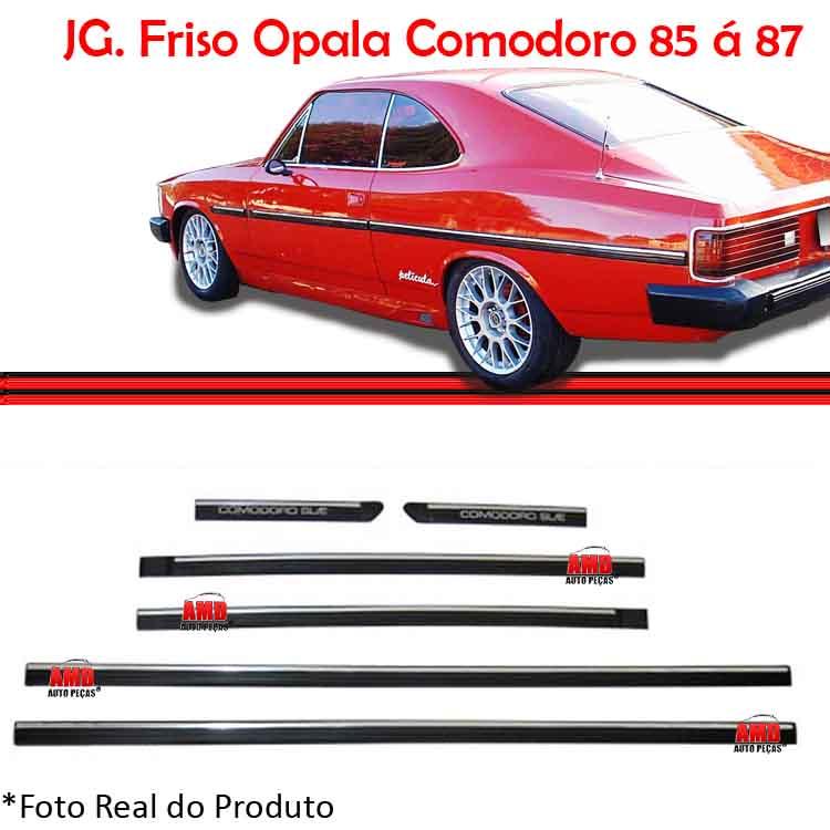 Jogo Friso Lateral Opala Comodoro 85 a 87 2 Portas  - Amd Auto Peças