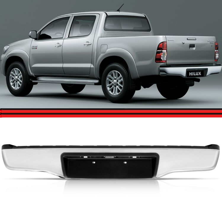 Parachoque Traseiro Hilux 05 á 14 Pick up SR SRV