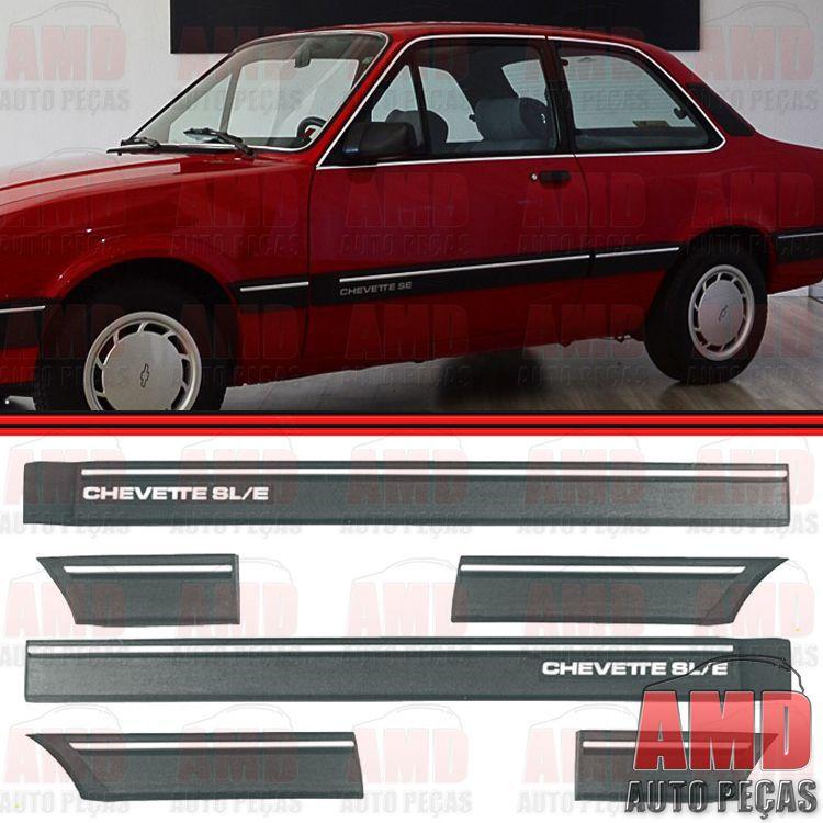 Friso Lateral - Chevette SL/E 87 até 92 - 2 Portas - Jogo