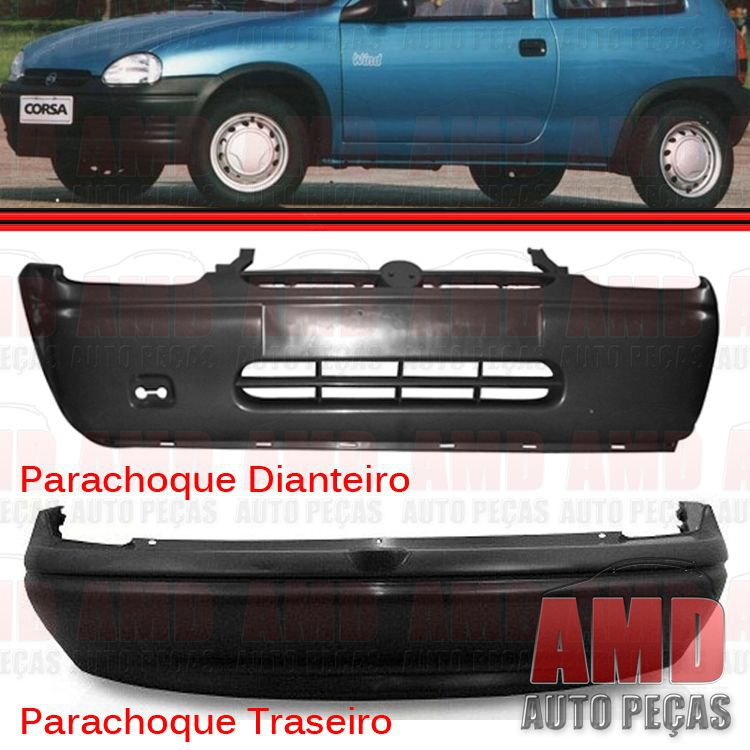 Par Parachoque Dianteiro / Traseiro - Corsa Sedan 94 até 99 - Primer