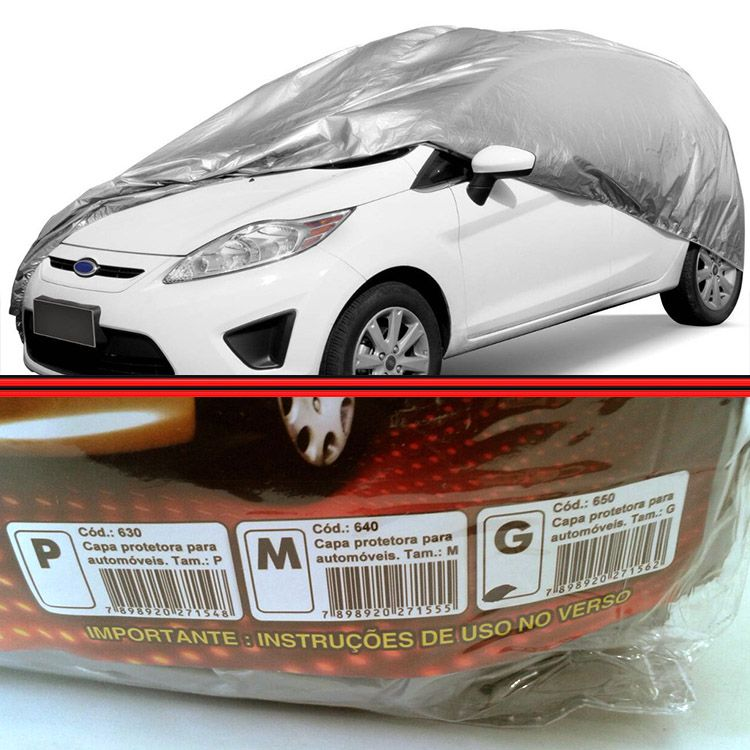 Capa Cobrir Protetora Proteção Carro Com Forro Tamanho M