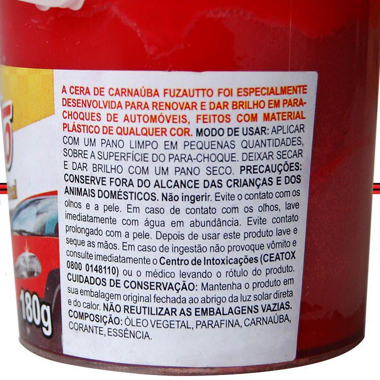 Cera Carnauba Restaurar Parachoque Painel Plástico Ressecado 180grs