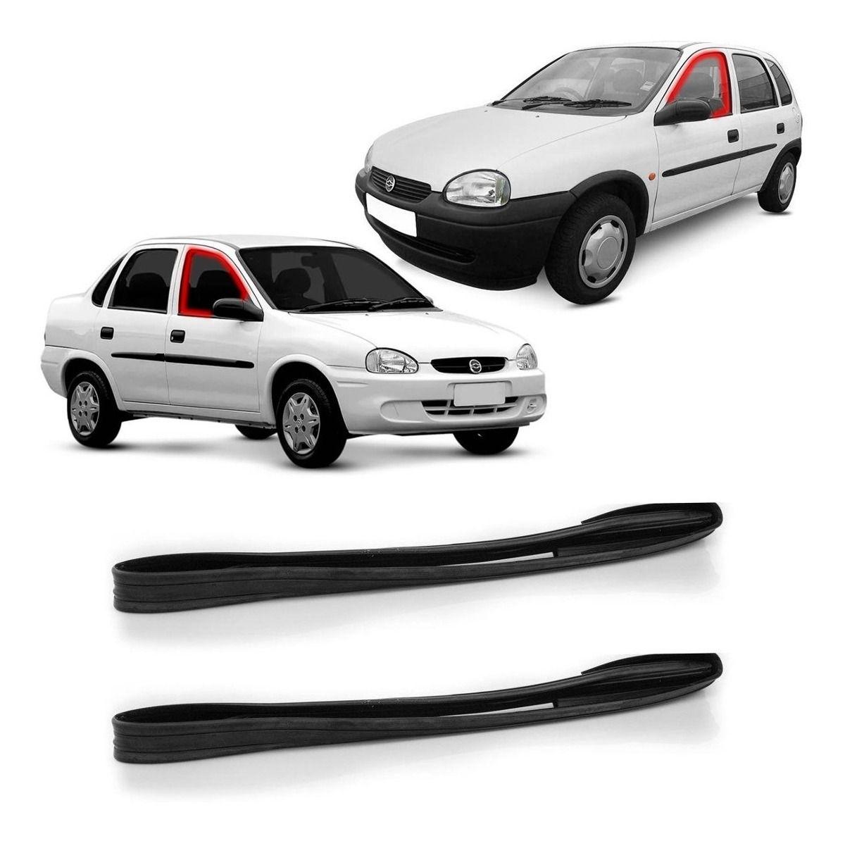 Borracha Canaleta Janela Porta Dianteira 4 Portas Corsa Hatch Sedan Wagon 94 a 02