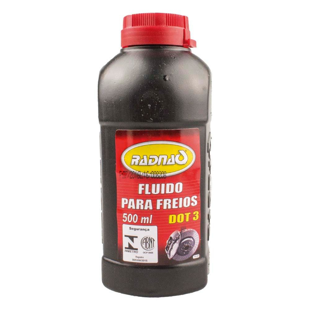 FLUIDO PARA FREIOS DOT 3 500 ML SISTEMA HIDRÁULICO DE FREIOS D