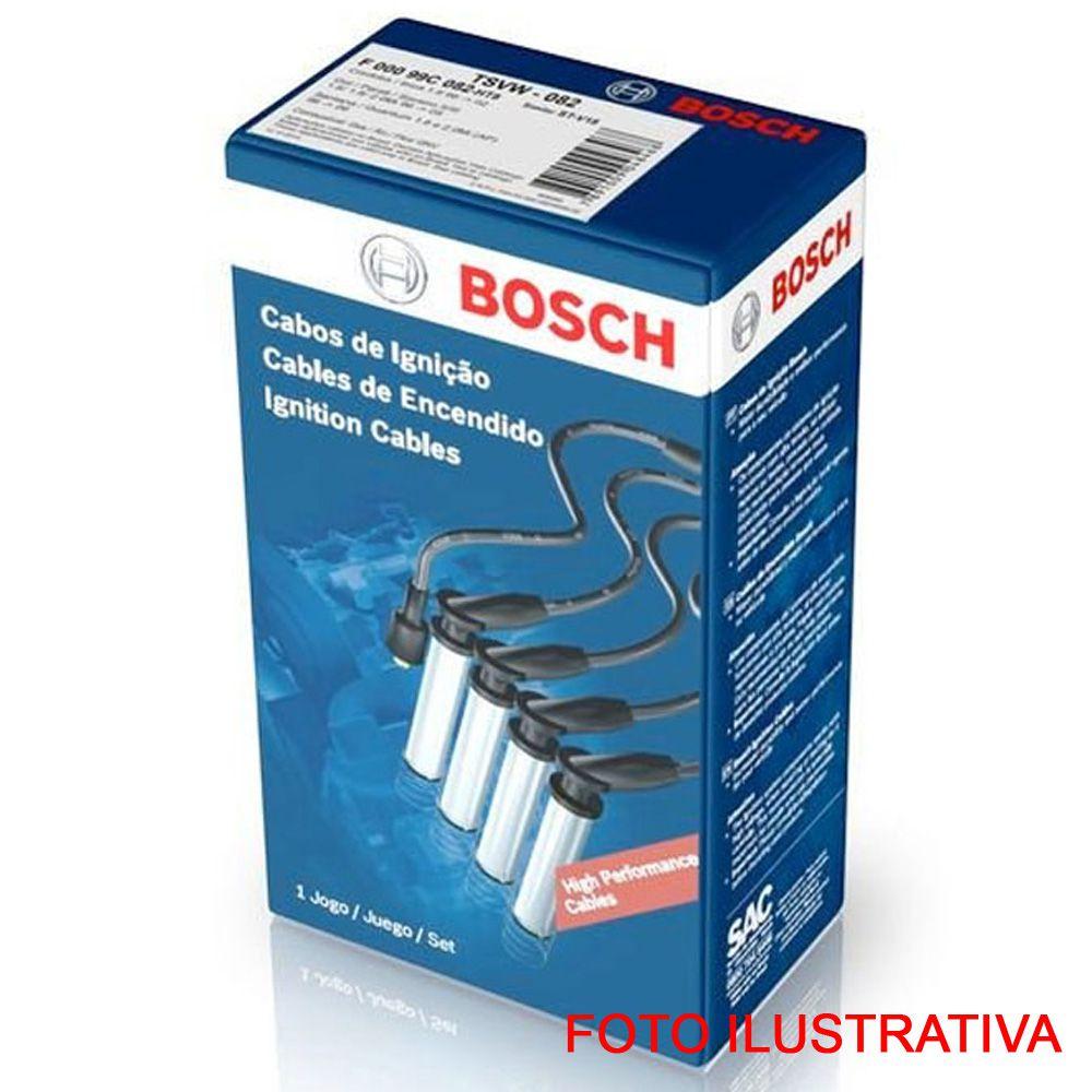 """JOGO CABO VELA PALIO FIORINO 1.0/1.3 8V 01 A 04 """"BOSCH"""""""