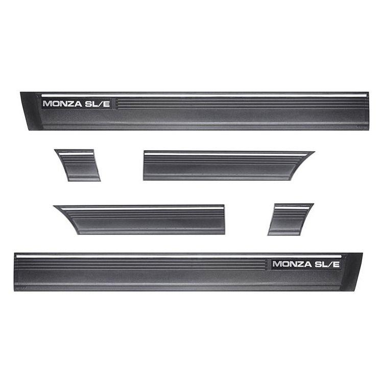 Friso Lateral - Monza SL/E 82 até 90 - 2 Portas - Preto 15Cm Auto Colante
