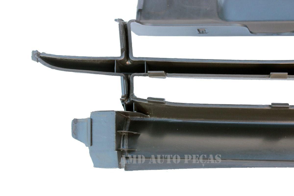 Para-choque Dianteiro - Ka 97 até 02 - Central - Preto Texturizado