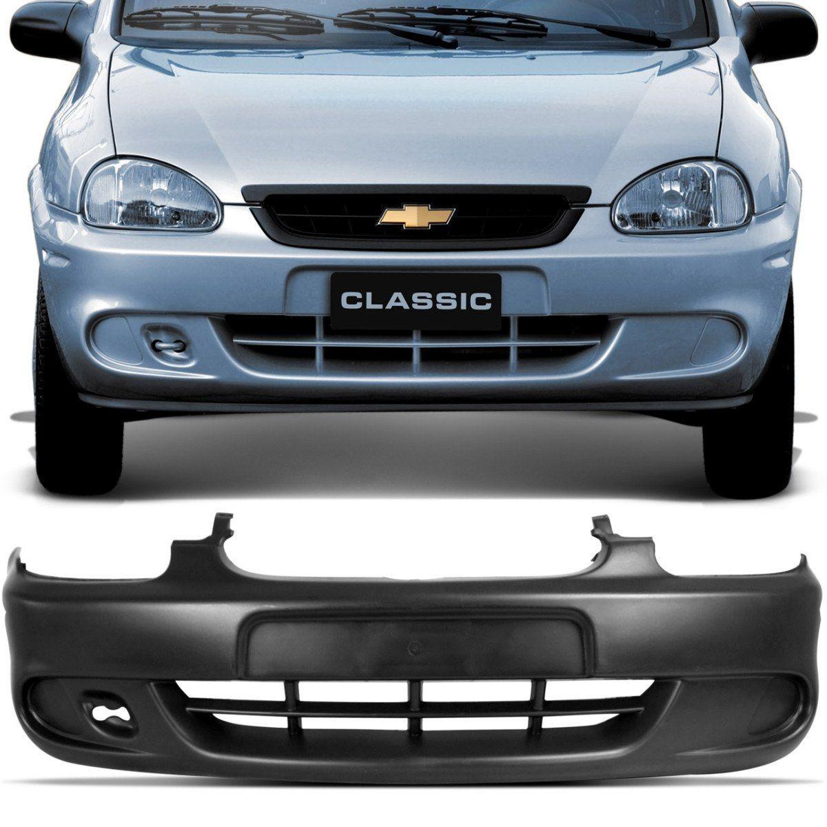 Parachoque Dianteiro Corsa Hatch Sedan Classic Preto Liso Para Pintura 00 a 08