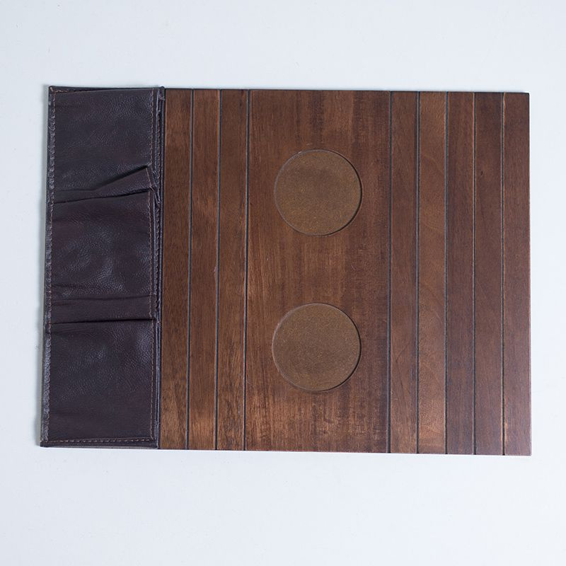 Bandeja de madeira para Sofá Porta Copos e Controle Imbuia