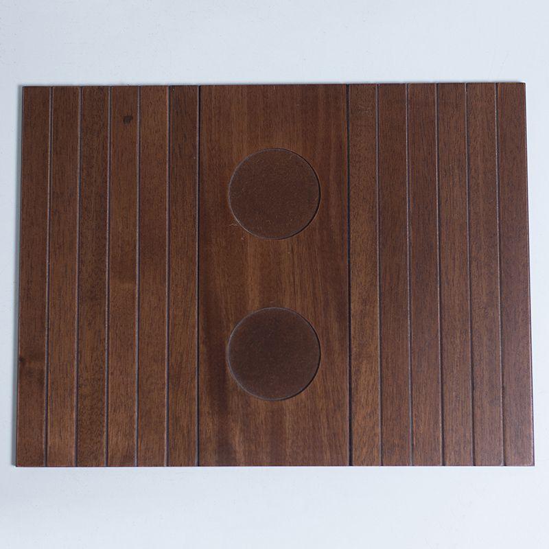 Bandeja de madeira para Sofá Porta Copos Imbuia