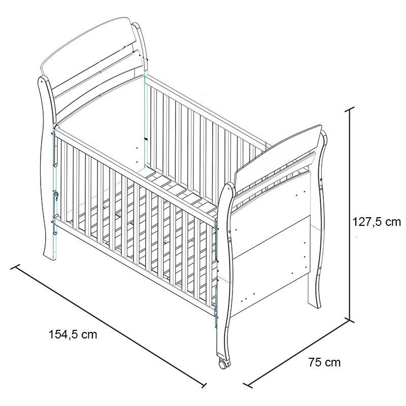 Quarto para bebê Primore com Berço Mini Cama Branco