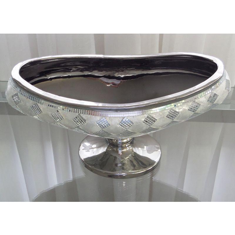 Fruteira Decorativa com Detalhes em Espelhos e Madrepérola Mod.746
