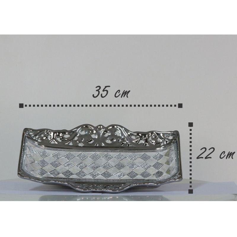 Bandeja Decorativa com Detalhes em Espelhos e Madrepérola Mod.903