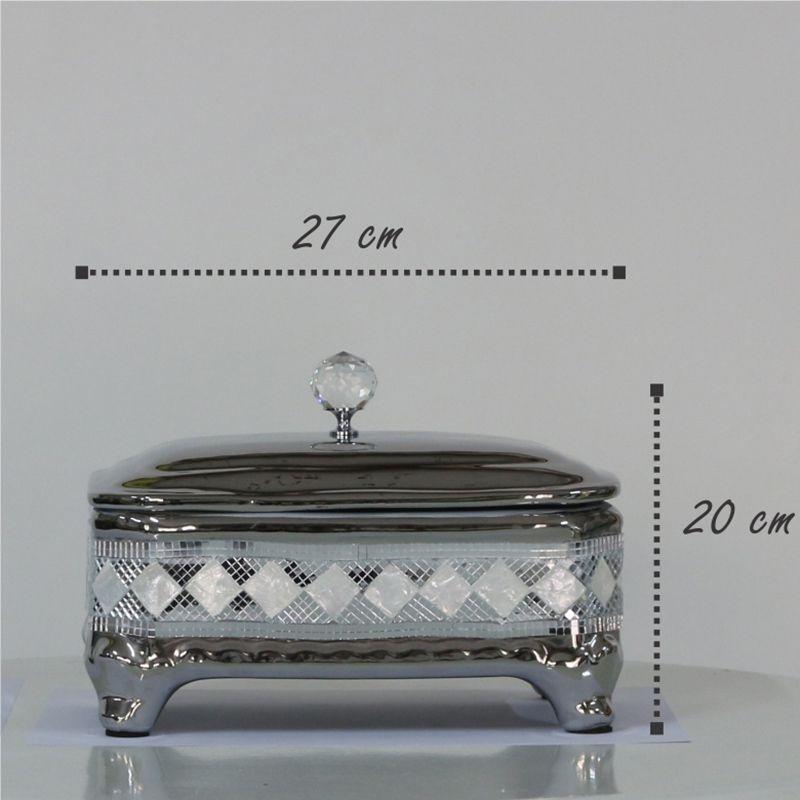 Porta Jóias com Detalhes em Espelhos e Madrepérola Mod.749