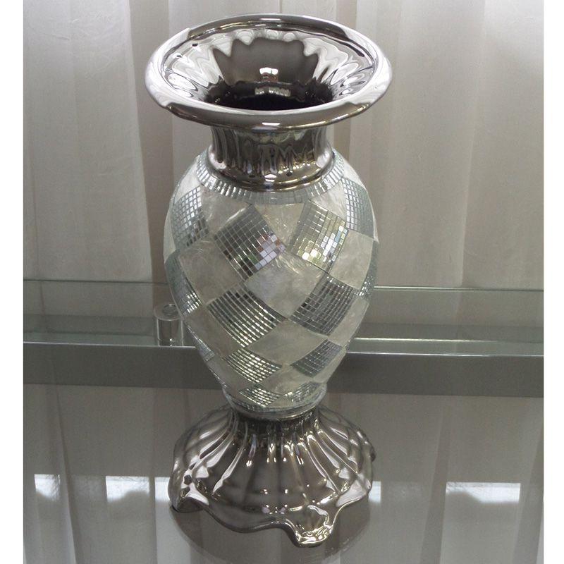 Vaso Decorativo com Detalhes em Espelhos e Madrepérola Mod.860