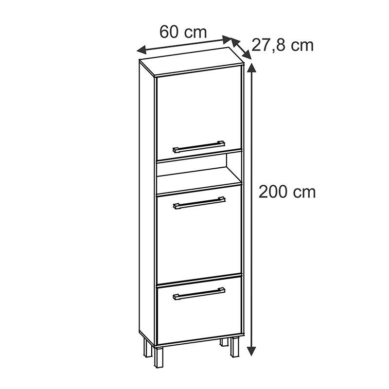 Paneleiro com porta mesa Maia 30130 - Branco