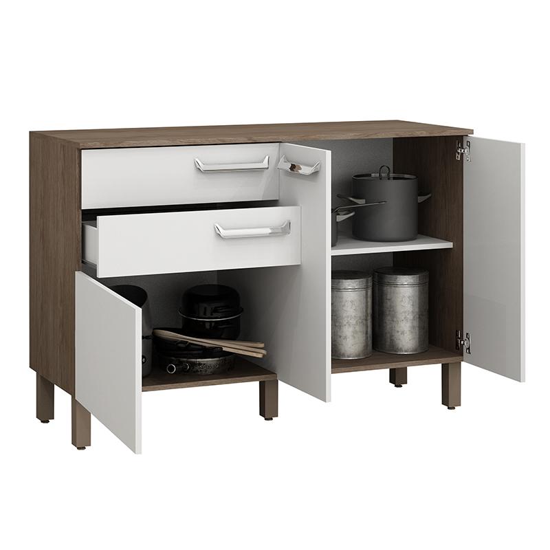 Balcão de cozinha com 2 gavetas e 3 portas Decari 31332