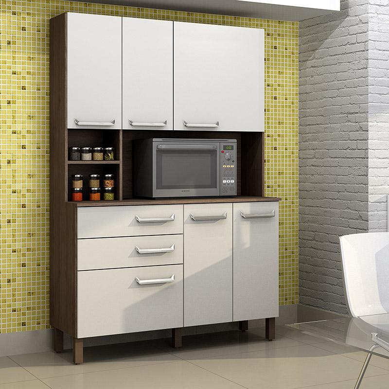 Kit cozinha 6 portas e 2 gavetas Decari 31362