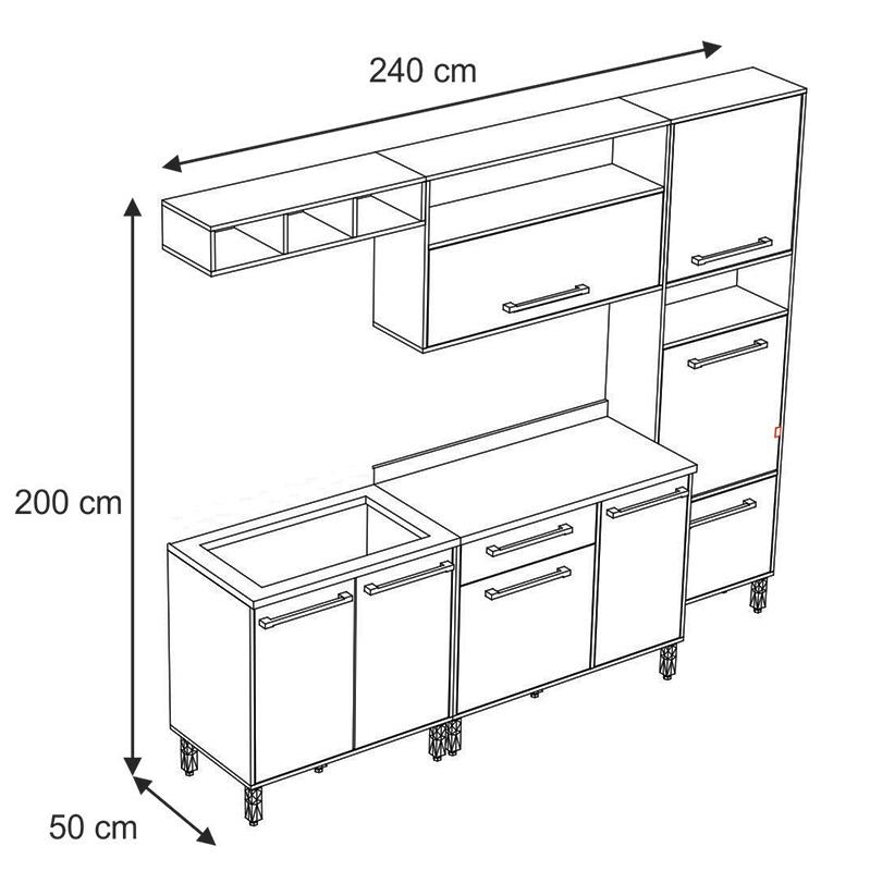 Cozinha Compacta com Balcão Cooktop Maia 09