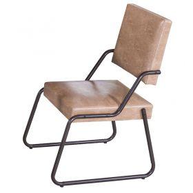 02 Cadeiras Estofadas Aço 818 Café
