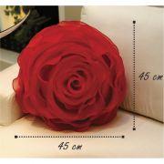 Almofada Redonda Flora 06 Gazar Vermelho 45x45cm