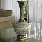 Vaso Decorativo com Detalhes em Espelhos e Madrepérola Mod.866