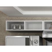 Armário para refrigerador Maia com Nichos 30020 - Branco