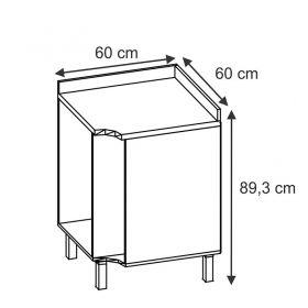Balcão Canto com Porta Toalha Maia 30160 - Branco