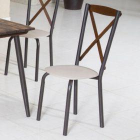 Conj. p/ s. jantar com mesa de madeira estilo demolição 90 x 90 cm e 04 cadeiras 416