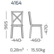 Conjunto 4 Cadeiras encosto de MDF estilo demolição modelo 4164