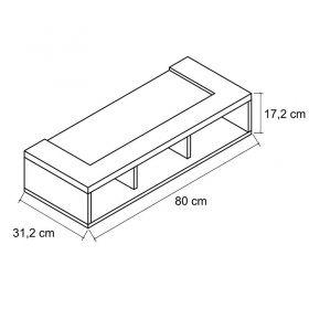 Armário Refrigerador 3 nichos Palmeira Tâmara 22030 Branco