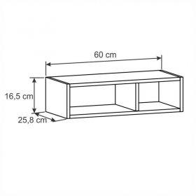 Armário geladeira com nichos Decari 31020