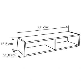 Armário geladeira com nichos Decari 31030