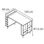 Balcão mesa com adega e nichos Decari 31040