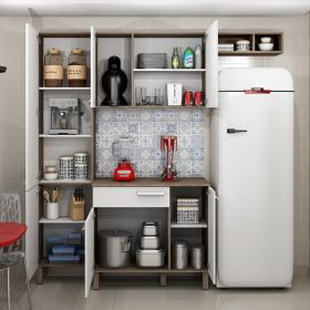 Cozinha compacta com balcão Decari 01