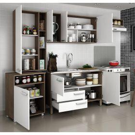 Cozinha completa com balcão Decari 06