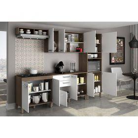 Cozinha completa com balcão cooktop Decari 08
