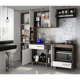Cozinha compacta com balcão p/ cooktop Decari 09