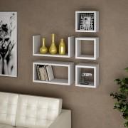 Conjunto de Prateleiras para Sala com 5 peças Lineare 01 Branco