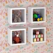 Conjunto de Prateleiras para Quarto Infantil com 4 peças Lineare 03 Branco
