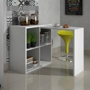 Estante 04 nichos com mesa em 25 mm Lineare 38041 Branca