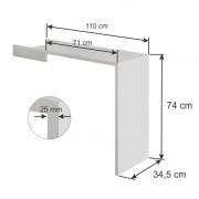Acessório Mesa em 25 mm 38003 para estante Lineare - Branco