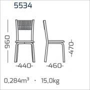Conjunto 4 Cadeiras cromada encosto Aramado modelo 553