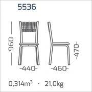 Conjunto 6 Cadeiras cromadas encosto aramado modelo 553